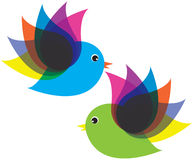 Gli uccelli volano Fotografia Stock Libera da Diritti