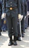 gli ufficiali della polizia italiana finanziaria hanno chiamato Guardia di Finan Immagine Stock