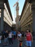 Gli Uffizi в Флоренсе Стоковое Изображение
