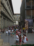 Gli Uffizi в Флоренсе Стоковые Фотографии RF