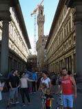 Gli Uffizi en Florencia Imagen de archivo