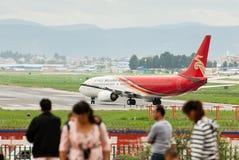 Gli ultimi momenti dell'aeroporto di wujiaba Fotografia Stock Libera da Diritti