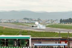 Gli ultimi momenti dell'aeroporto di wujiaba Fotografia Stock