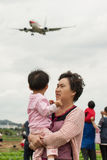 Gli ultimi momenti dell'aeroporto di wujiaba Fotografie Stock