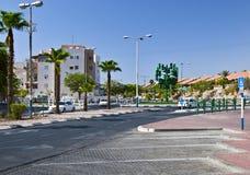 Gli ultimi semafori alla città di Eilat Fotografie Stock