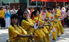 Gli undicesimi giochi della sfera di taiji della Cina Kongfu (Rouliqiu) fotografia stock libera da diritti