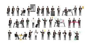 Gli uomini d'affari europei hanno isolato il grande insieme illustrazione vettoriale