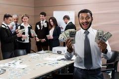 Gli uomini d'affari hanno vinto la posta Fotografia Stock