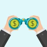 Gli uomini d'affari trovano i soldi illustrazione di stock