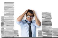 Gli uomini di affari sono sollecitati Fotografie Stock