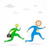 Gli uomini di idea sono in corsa per il concetto di tempo illustrazione di stock