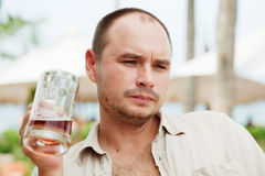 Gli uomini godono della birra Immagine Stock Libera da Diritti
