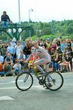 Gli uomini nudi sulla bicicletta da Freemont sfilano Immagine Stock