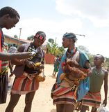 Uomini tribali africani Immagini Stock