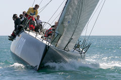 Gli yacht corrono a Malaga, Spagna
