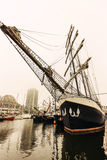 Gli yacht e le barche sulla manifestazione durante il festival annuale dell'yacht di Ostenda hanno chiamato Oostende Voor Anker Fotografia Stock Libera da Diritti