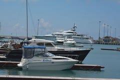 Gli yacht nel porto Fotografia Stock Libera da Diritti