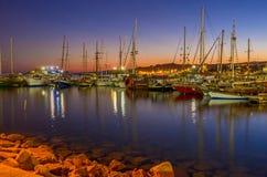 Gli yacht in porto Fotografia Stock Libera da Diritti