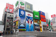 The Glico Man light billboard Royalty Free Stock Image