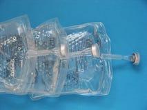 Glicose em pacotes médicos Fotografia de Stock Royalty Free