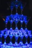 Glid Champagne Glasses Royaltyfria Foton