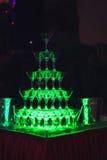 Glid Champagne Glasses Arkivbild