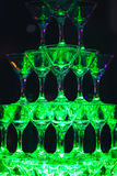 Glid Champagne Glasses Arkivbilder
