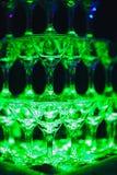 Glid Champagne Glasses Fotografering för Bildbyråer