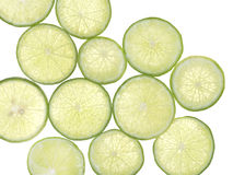 Glid citronen på isolatvitbakgrund Arkivbilder