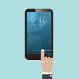 Glid för att låsa Smartphone upp stock illustrationer
