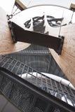 Glid i den Pyramidekogel watchtoweren, Österrike Arkivfoto