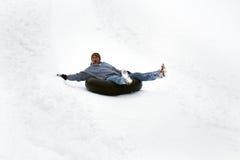 Glid ner berget Fotografering för Bildbyråer