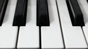 Glidbana för pianotangentbord lager videofilmer