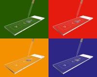 Glidbanaexponeringsglas vektor illustrationer