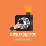 Glidbanaprojektor enmekanisk apparat som visar fotografiska glidbanor stock illustrationer