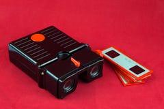 Glidbanatittare och glidbanor för tappning stereo- royaltyfria bilder