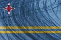 Glidbanor för strömkrets och för däck för sportbil med att blanda Aruba sjunker Arkivfoto