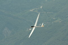 Glider. Flying in Alps,France Stock Photo