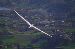 Glider. Flying in french alps Stock Image