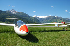 Glider. On little sport airport in Austria Royalty Free Stock Images