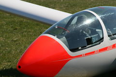 Glider. ASK-21 Glider preparing for take-off Stock Images