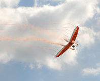 Glider. Delta shaped glider soaring in the sky Stock Photography