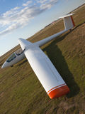 Glider. Perspective of a white glider Royalty Free Stock Photo