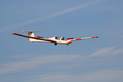 Glider. S on frosty morning just over my head Royalty Free Stock Images