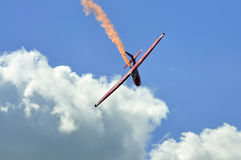 Glider aerobatic flying in the sky Stock Photography