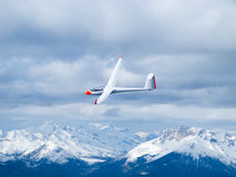 Glider in the air. Taken from inside a glider Royalty Free Stock Photography