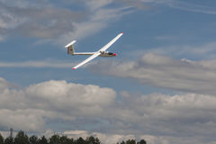 Glider in Air During Aviation Sport Event Dedicated to the 80th Anniversary of DOSAAF Stock Image