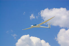 Glider airplane in the sky Stock Photo