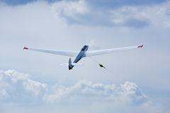 Glider being winched upwards Stock Image