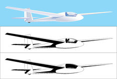 Glider color and black Royalty Free Stock Photo